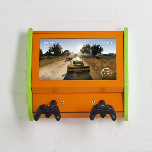 game station wall mount with gameplay WEB